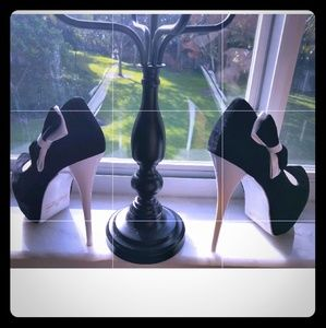 ALba Black & White Betty High Heels